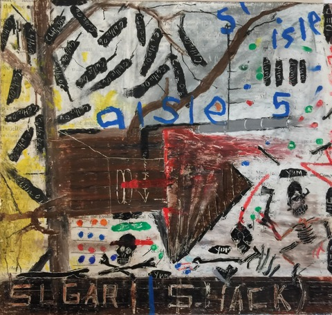 andrew zdziarski figurative (2012-2017)  oil pastel on cardboard