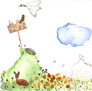Angelia Murray Whimsical Daydreams Watercolor on Paper