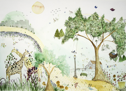 Angelia Murray Whimsical Daydreams Watercolor and Pencil on Watercolor Paper