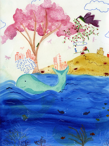 Angelia Murray Whimsical Daydreams Watercolor and Pencil onto Paper