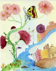 Angelia Murray Whimsical Daydreams Watercolor and Pencil on Paper