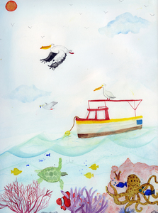 Angelia Murray Whimsical Daydreams Watercolor and Gouache on Watercolor Paper