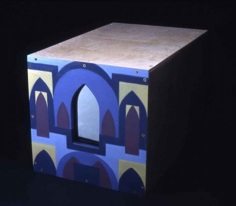 Angelo Fertitta, Visual Artist 3-D Paintings, 1987 to 1988 Wood, mirrors, paint, and florescent light