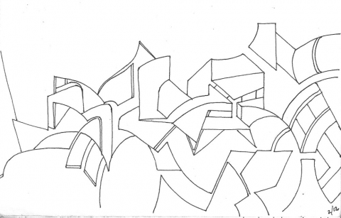 Recent Sketches pen on paper