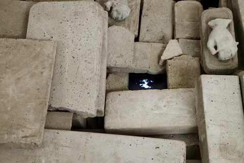 ANITA GLESTA SINK HOLE 2010 Concrete and Video