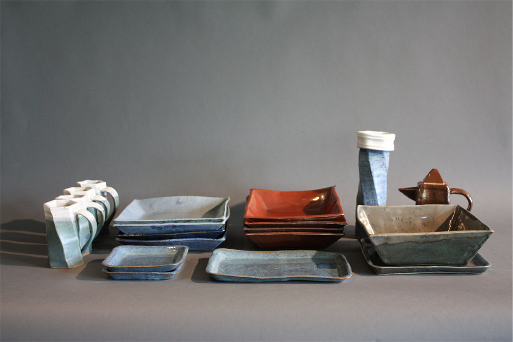 Dinnerware Set, 2011 Slab Built Dinnerware Set