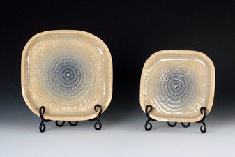 Cahoon/Hill Wedding Gift, 2014 Cone 6 stoneware, slab built