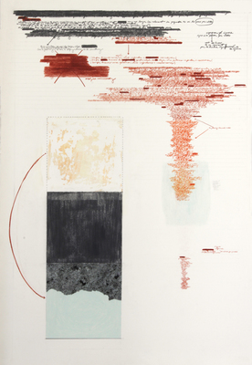 Anne Gilman Assorted works on paper 2013 pencil, paint, ink, acrylic medium on paper