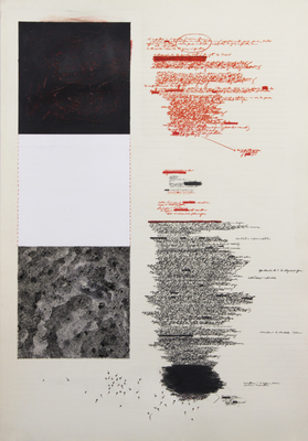 Anne Gilman Assorted works on paper 2013 pencil, ink, paint, charcoal and matte medium on paper