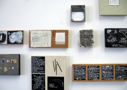 Anne Gilman One-of-a-kind Artist Books 28 wood blocks with ink, paint, pencil, collage