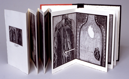 Anne Gilman Limited Edition Artist Books mixed media digital accordion book printed on Arches cover stock, edition of 10