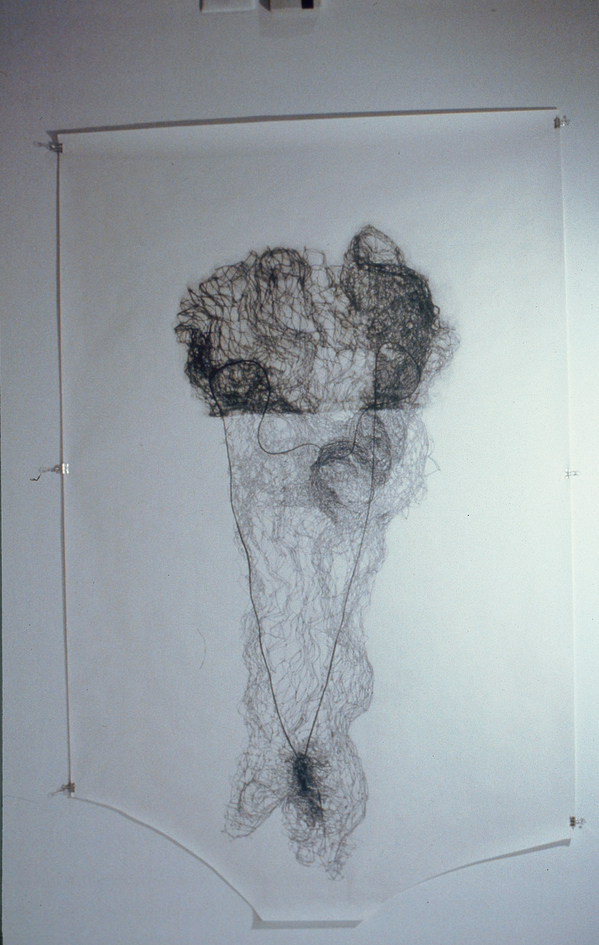 Archived Drawings (1993-2004) Pull (hairnet drawing)