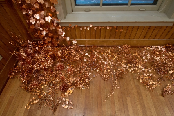 Anne Peabody Lux Aeterna, 2013 Copper sheet and wire