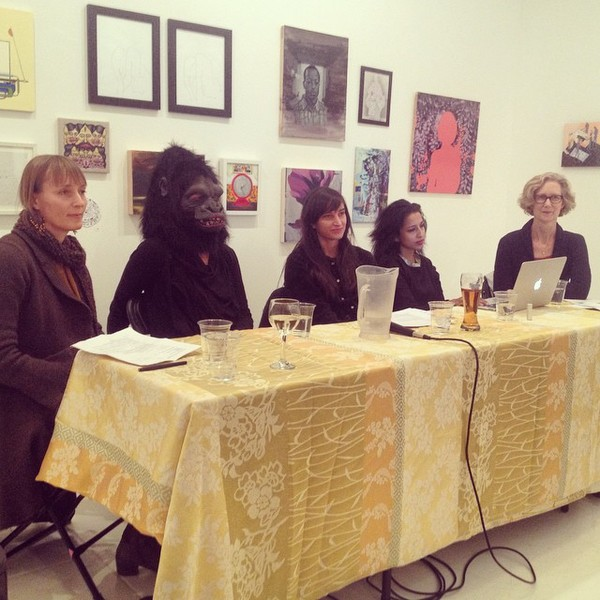 Bushwick Art Crit Group Feminist Panel Discussion, November 14, 2014 Bushwick Art Crit Group Panel Discussion: Marching Forward: Collective Strategies of Women in the Arts  organized by Kelsey Shwetz  with Jenn Dierdorf, Frida Kahlo (Guerrilla Girls), Anki King, Asha Cherian and Anne Sherwood Pundyk