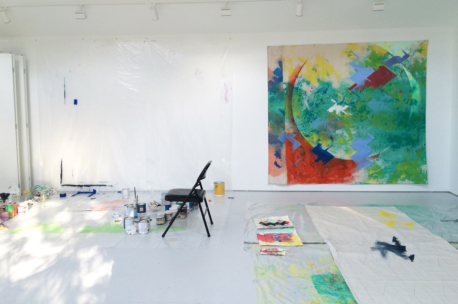 Mattituck Studio, North Fork, November 2014 to Present Anne Sherwood Pundyk studio in Mattituck, NY