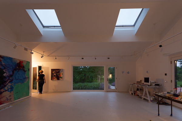 Anne Sherwood Pundyk studio in Mattituck, NY, designed by Andrew Berman Architect, New York, NY