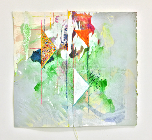 Anne Sherwood Pundyk:   The Revolution Will Be Painted Works on Paper Latex, Acrylic, Watercolor, Gouache, Pencil Shavings, Colored Pencil and Stitching on Paper