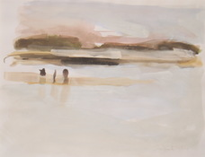 ANNE SEELBACH Shoreline Paintings gouache on paper