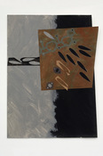 "ANNE SEELBACH ""Troubled Waters"" cut-outs tempera on cut paper"