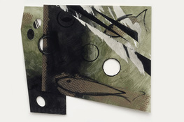 "ANNE SEELBACH ""Troubled Waters"" cut-outs tempera on cut and torn paper"