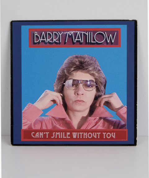 Barry Manilow archival paper on found album cover