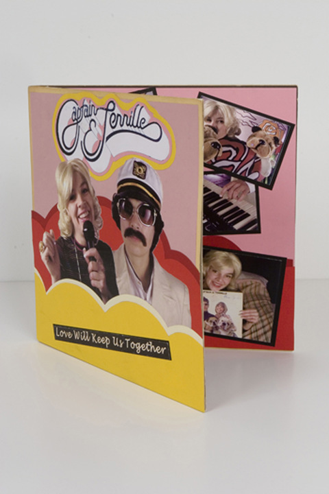 Captain & Tennille archival paper on found album cover