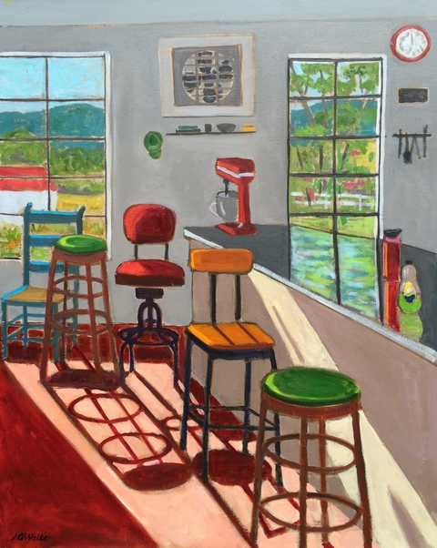 Anne Walker ShoreDog Cafe Oil