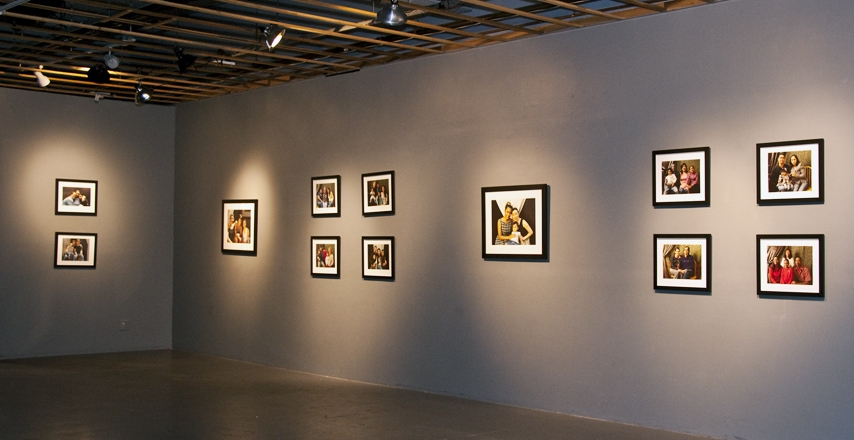 Installation Photographs Five Myles Gallery, In the Presence of Family - front and side walls