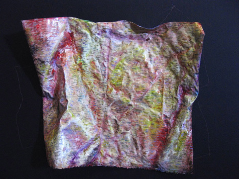 ANN STODDARD Earth Maps oil on manipulated linen