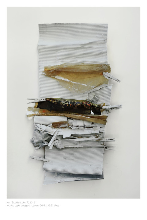 ANN STODDARD Jest Series Acrylic,paper collage, clothespins