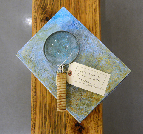 ANN STODDARD  Water Maps Mixed media