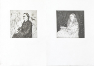 Arcadia Now Works in the Exhibition etching and drypoint on two sheets