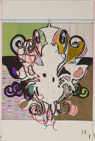 ART FOR FILM - great cleared art rental for film, television and commercials Laurel Sparks (SPALAU) mixed media collage on archival print on paper