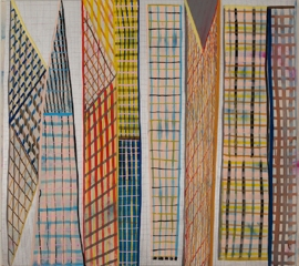 ART FOR FILM - great cleared art rental for film, television and commercials Laurel Sparks (SPALAU) acrylic and pigment on canvas