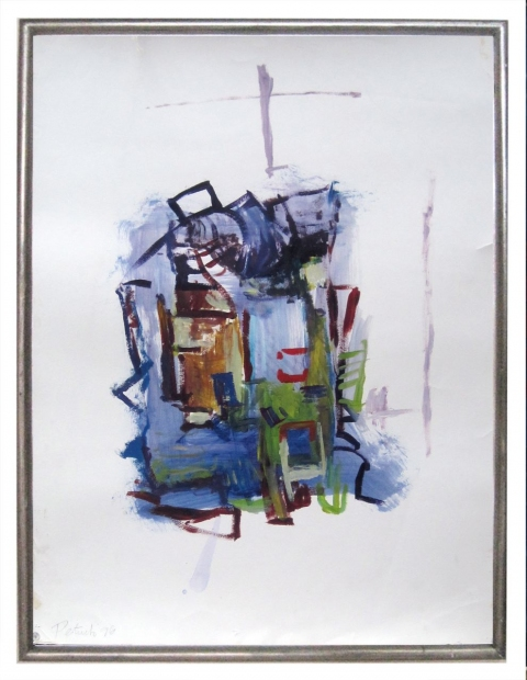 ART FOR FILM - great cleared art rental for film, television and commercials painting - abstract acrylic on paper