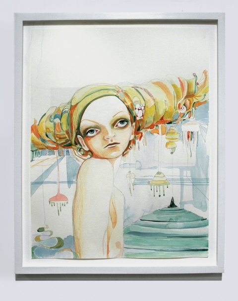 ART FOR FILM - great cleared art rental for film, television and commercials Jenny Laden (LADJEN) watercolor on paper