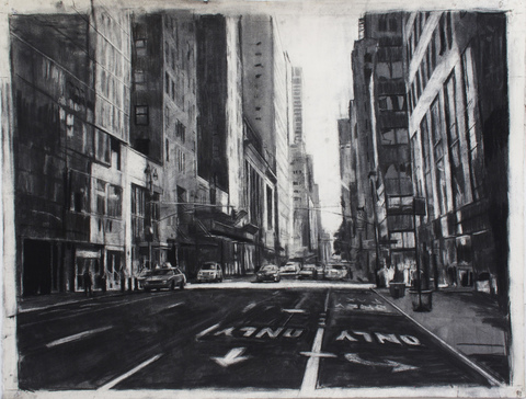ART FOR FILM - great cleared art rental for film, television and commercials Aaron Hauck - HAUAAR charcoal on paper