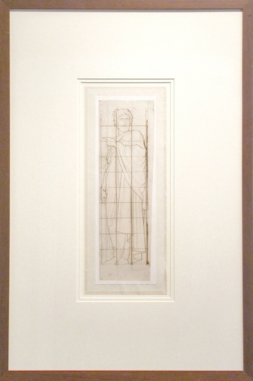 Artifacts Collections of New York Inc.  museum /archival framing brown ink and graphite on paper