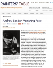 Andrew Sendor Sperone Westwater, March 1-30, 2013