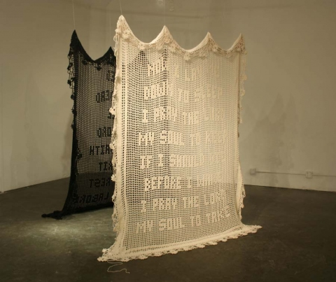 Ashley V. Blalock Other Sculpture and Installation cotton yarn