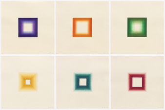 Aspinwall Editions 6 White Squares Set of six Japanese woodcuts