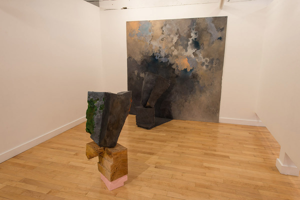 Audrey Goldstein No Ground Beneath  Foam, Oil Paint, Resin, Graphite, Wood, Pastel on Paper, Buckshot