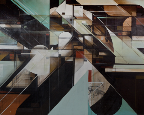 Augustine Kofie Works on canvas Acrylic, spray paint & bitumen on canvas. Finished in matte varnish.