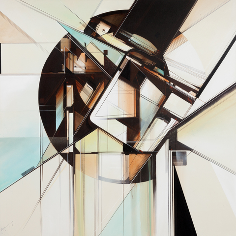 Augustine Kofie Works on canvas Acrylic, spray paint & bitumen on canvas. Finished in matte satin varnish.