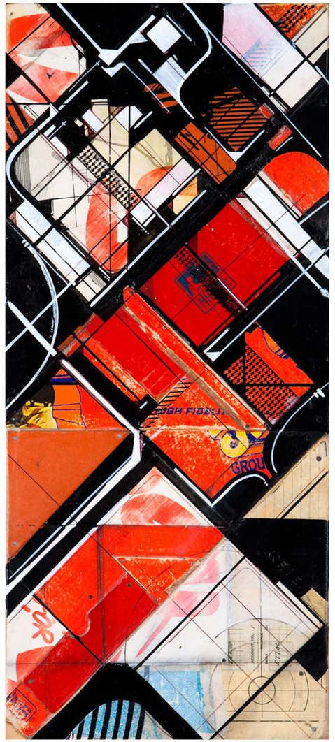 Works on collage Hi-Red Fidelity, 2008