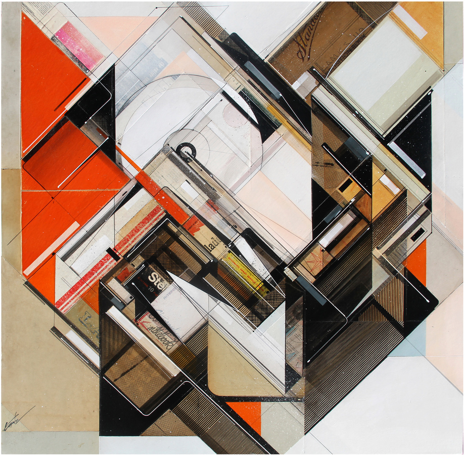 Works on collage Standard practice, 2015