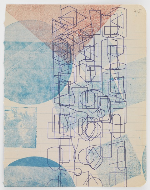 Austin Thomas Work Monoprinted with Akua Intaglio Ink on notebook