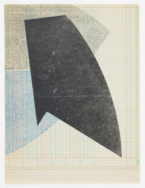 Austin Thomas Work Monoprinted with Akua Intaglio Ink on ledger paper