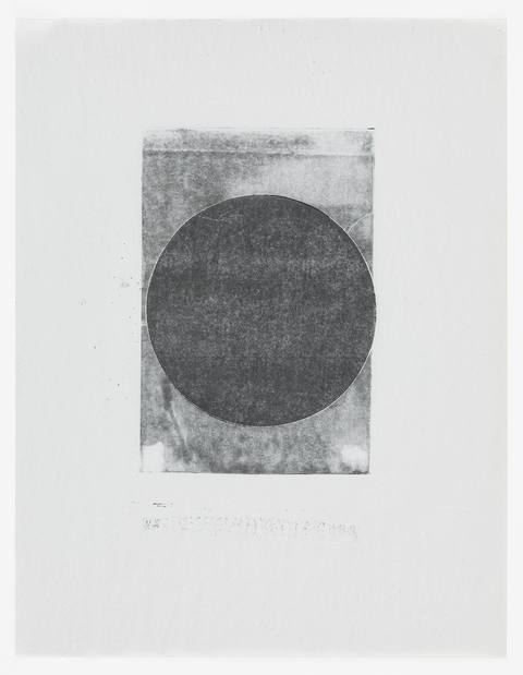 Austin Thomas Work Monoprinted with Akua Intaglio Ink on typing paper