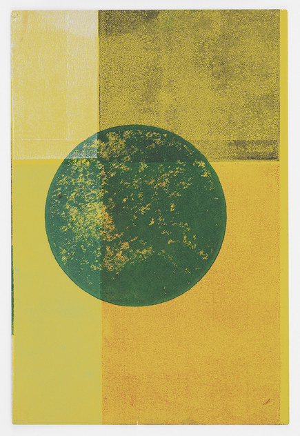 Austin Thomas Work Monoprinted with Akua Intaglio Ink on Pantone paper